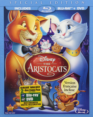 Aristocats ,The (Special Edition) (Blu-ray/DVD Combo) BLU RAY DISC ONLY