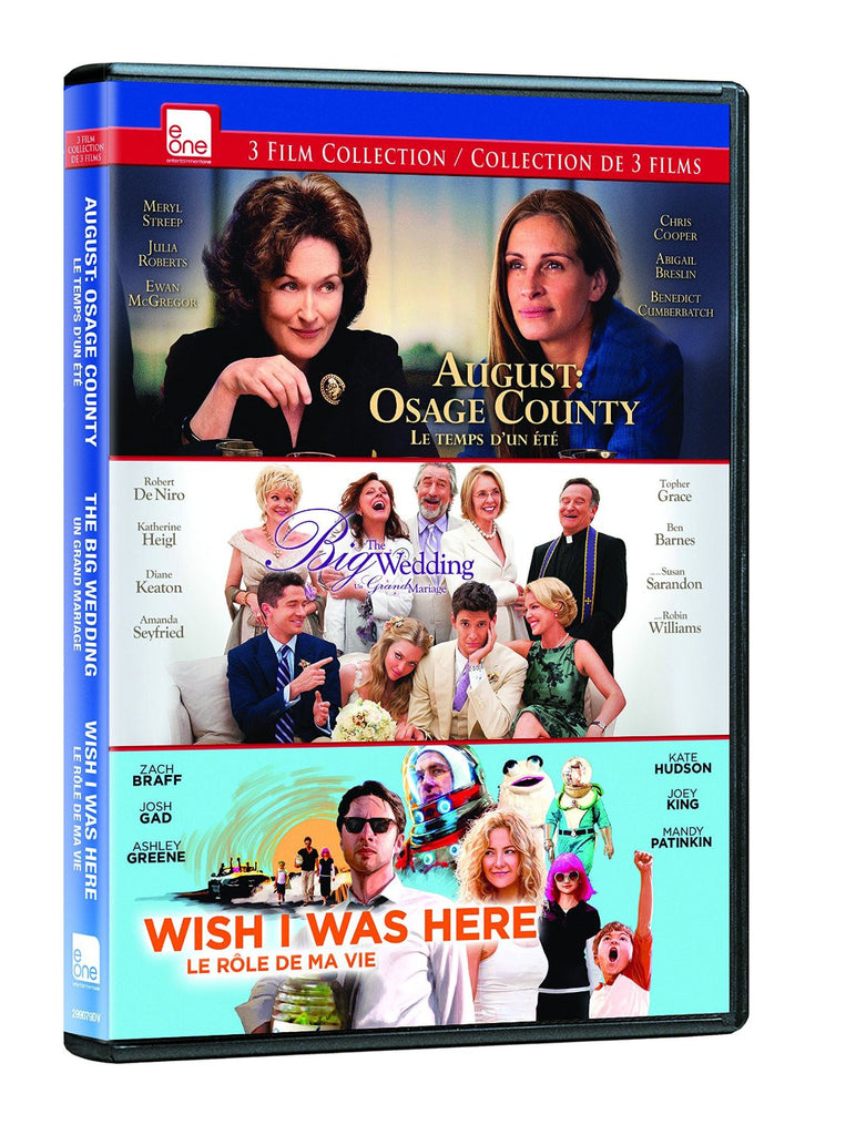August: Osage County / Big Wedding / Wish I Was Here DVD Triple Feature (Bilingual)