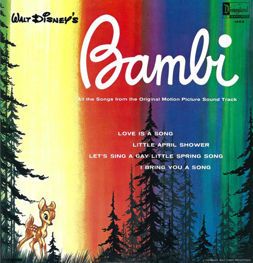 Bambi -1963- Walt Disney Classic Soundtrack! (Vinyl) Great Shape!