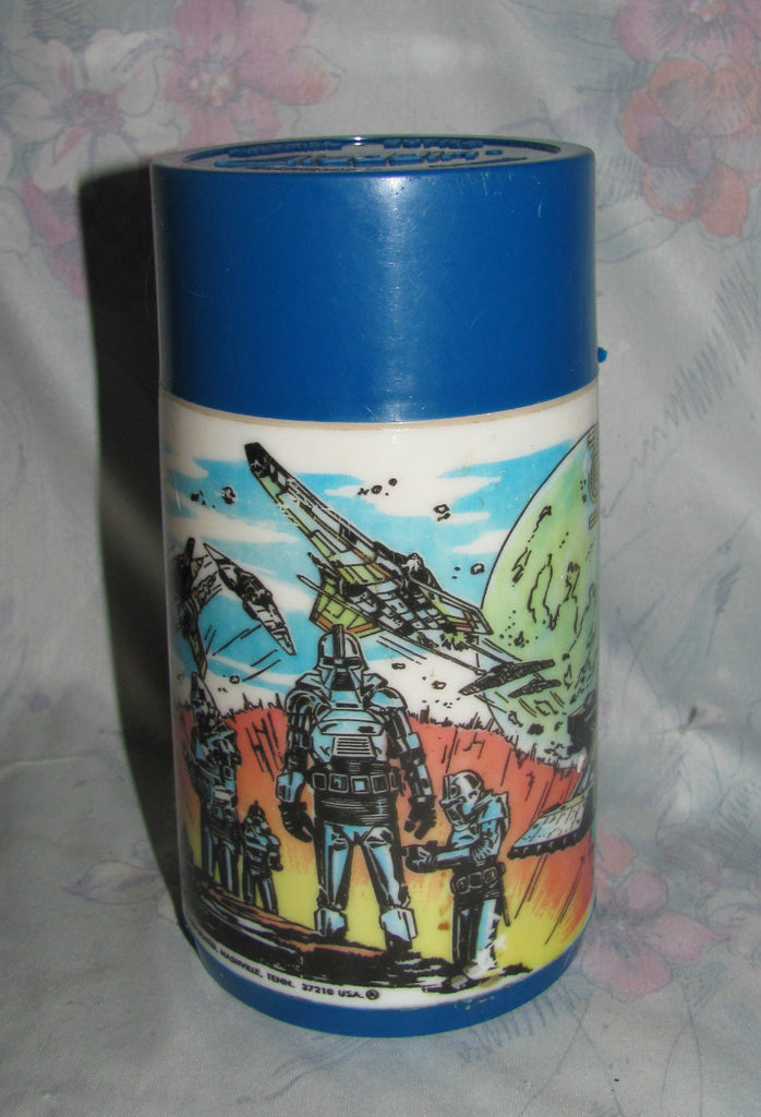 Battlestar Galactica Thermos in Blue Canadian variation -Vintage 1978 Aladdin