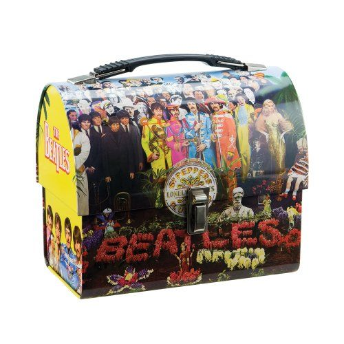 Vandor 64376 The Beatles Sgt. Peppers Dome Tin Tote - great shape -2008