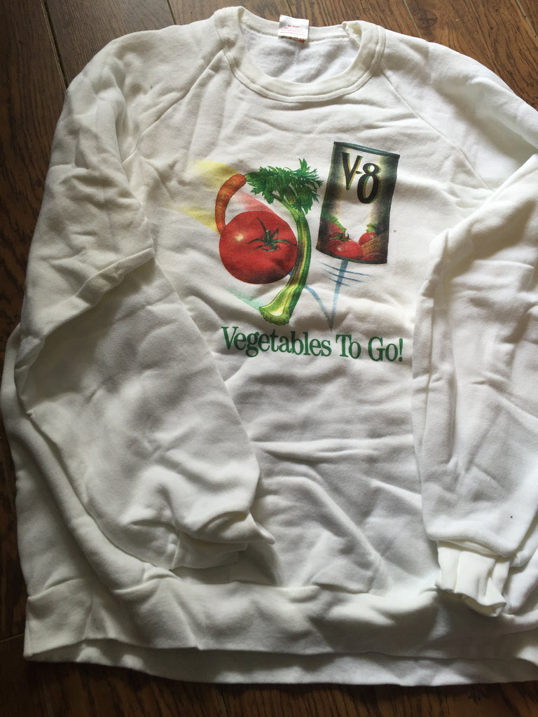 1987 ~ V8 - Vegetables and Fruit Juices - Campbell's Sweatshirt (New )large
