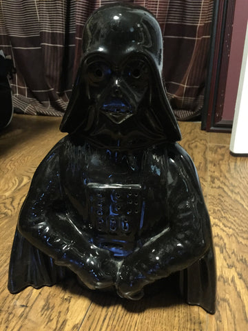 "Star Wars - Ceramic Darth Vader Bust ( handmade) 12 "" High"