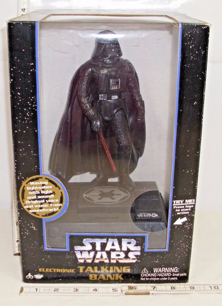 Star Wars Deluxe Electronic Darth Vader Thinkaway Talking Bank from 1996