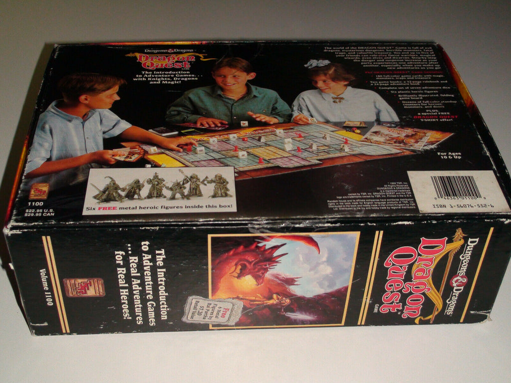 TSR D&D Dragon Quest Board Game 1992 Dungeons & Dragons (mostly complete)
