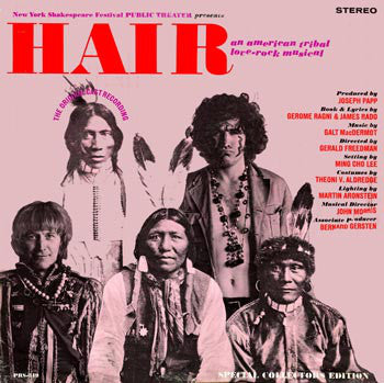 Hair: An American Tribal Love-Rock Musical- Galt MacDermot ‎– New York Shakespeare Festival Public Theater Presents - 1974-Jazz-Funk, Musical (Rare Vinyl)