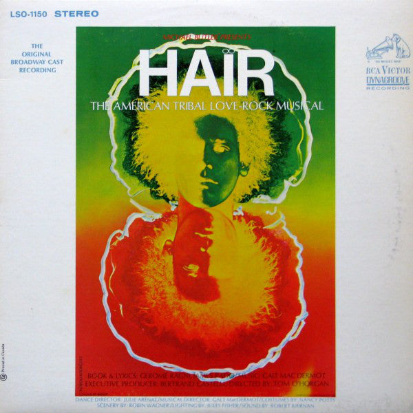 Hair - The American Tribal Love-Rock Musical - The Original Broadway Cast Recording (vinyl) 1968  Psychedelic