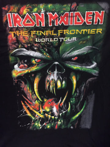 Iron Maiden- Final Frontier World Tour 2010  Black T Shirt