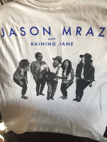 Jason Mraz and Raining Jane - North American Tour - T shirt - (white) L