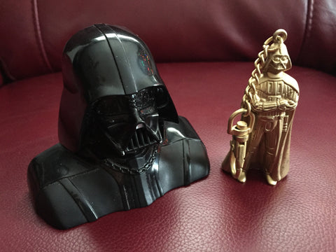 Darth Vader Keychains - 1 Heavy Metal (1995) & Black Plastic ( 2005)