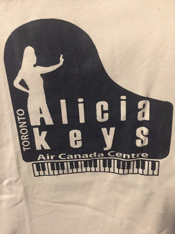 Alicia Keys - at the Air Canada Centre , Toronto Light Brown T Shirt - Female (S)