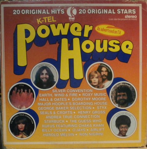 Power House -1976- Rock, Funk / Soul, Pop, Folk, World, & Country (Vinyl) Rufus Featuring Chaka Khan , Guess Who, Roxy Music