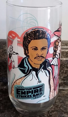 1980 Coca Cola Burger King STAR WARS Empire Strikes Back Lando Calrissian Glass