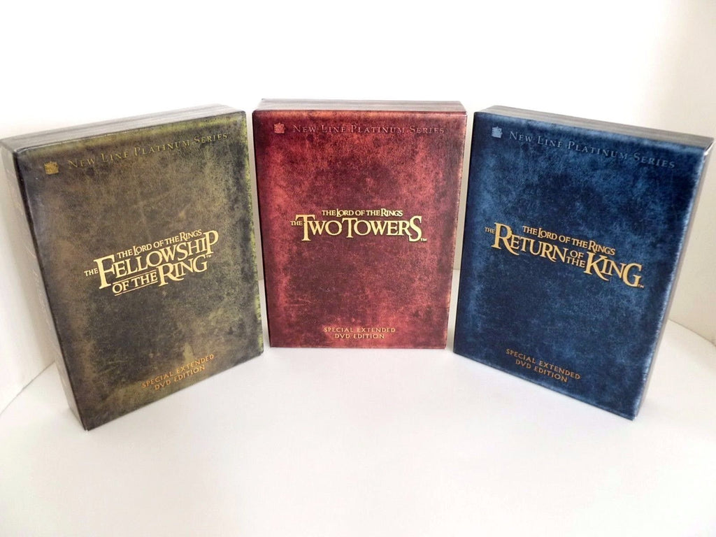 3 - Lord of the Rings DVD Box Sets (extended versions) near mint