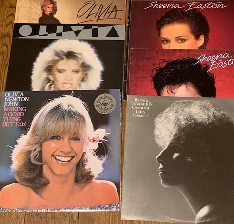 LOT # 11 - 6 FEMALE ARTISTS ALBUMS 1 PRICE ! SHEENA EASTON, OLIVIA & BARBRA