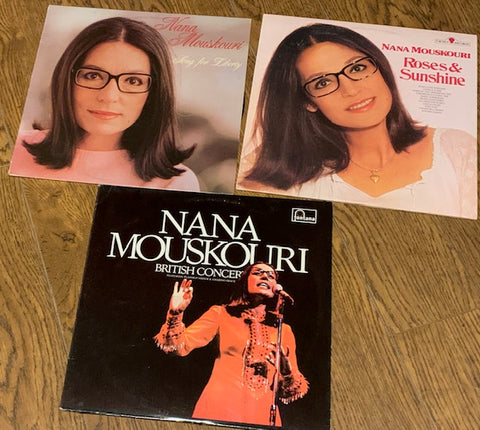 NANA MOUSKOURI LOT # 12 - 3 ALBUMS 1 PRICE !