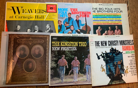 LOT SALE # 7 - FOLK COLLECTION  ( 6  albums ) as pictured