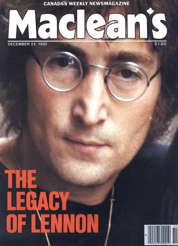 Maclean's Magazine , Dec. 1980: The Legacy of Lennon-  ( Used & Collectible )