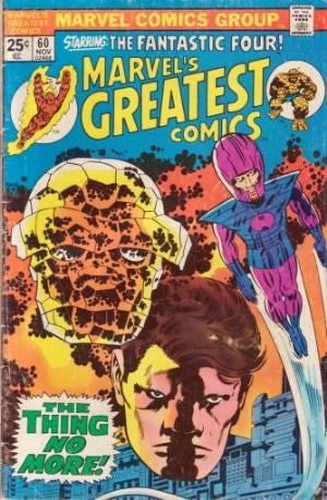 Marvels Greatest Comics # 60 Starring The Fantastic Four!
