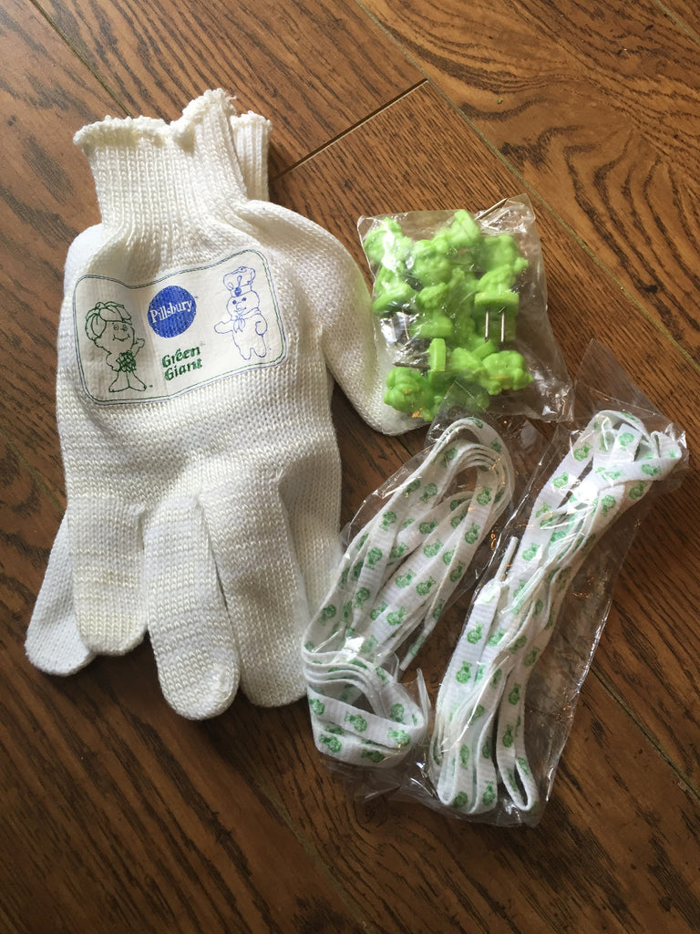 Pillsbury Advertising collection- Gloves , shoelaces, Corn pics