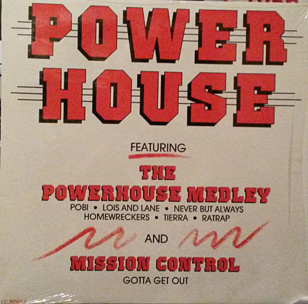"Powerhouse -1988  Electronic-Hip-House- Vinyl, 12"", 33 ⅓ RPM, Partially Mixed"