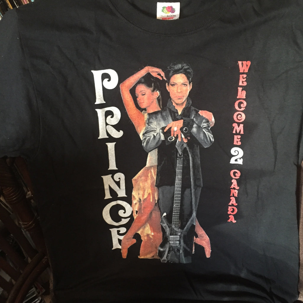 Rare Prince T Shirt - Welcome 2 Canada Tour (Canada) Size M
