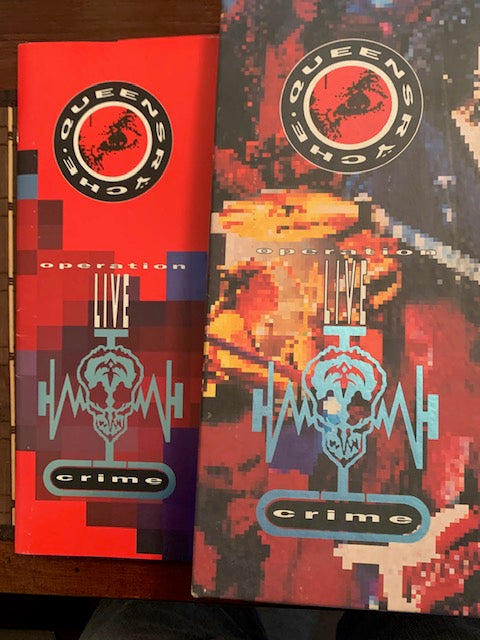Queensyche - Operation: LIVEcrime (Audio Cassette)VHS Tape & Book ( Box Set)