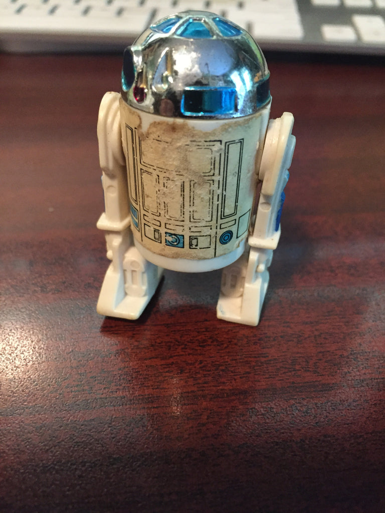 "Vintage Star Wars R2-D2 Action Figure 2 1/4"" ( rough condition)"