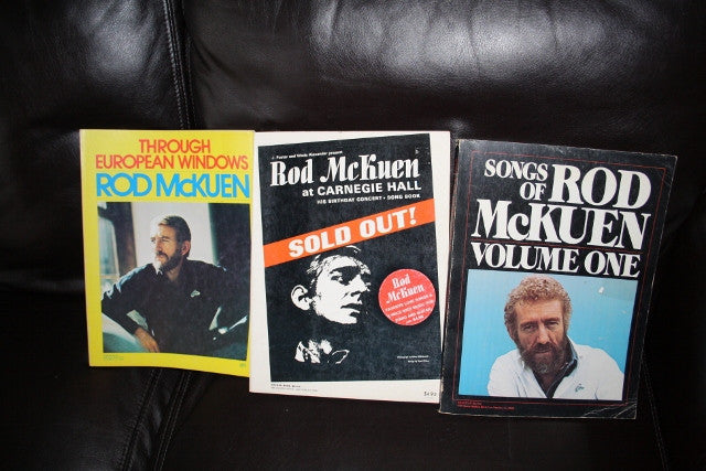 3 Amazing Rod McKuen Songbooks from the 1970's