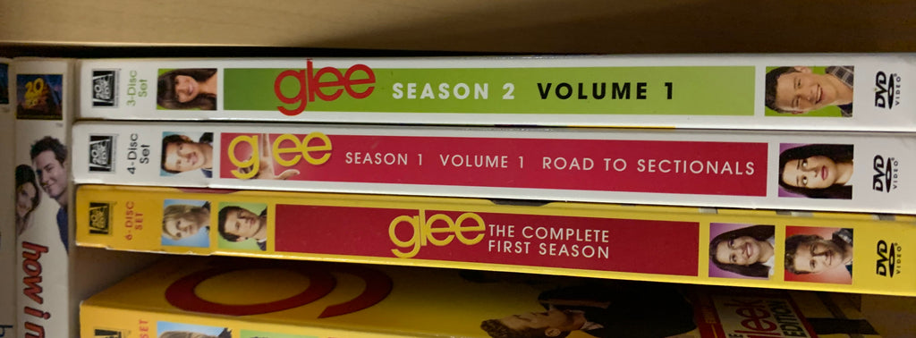 Glee - Season 1 / Season 1-Vol 1 - Road To Sectionals / Season 2 Vol 1 DVD sets