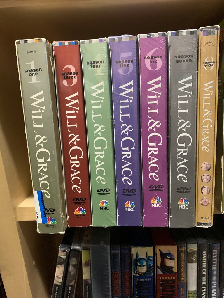 WILL & GRACE - SEASONS 1, 3, 4, 5, 6, 7, 8 DVD SETS