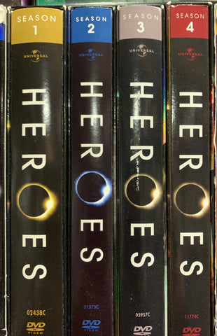 4 HERO DVD SETS - Seasons 1,2,3,4 ( great shape )