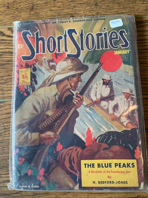 SHORT STORIES PULP JAN 1943 - THE BLUE PEAKS by  H BEDFORD JONES