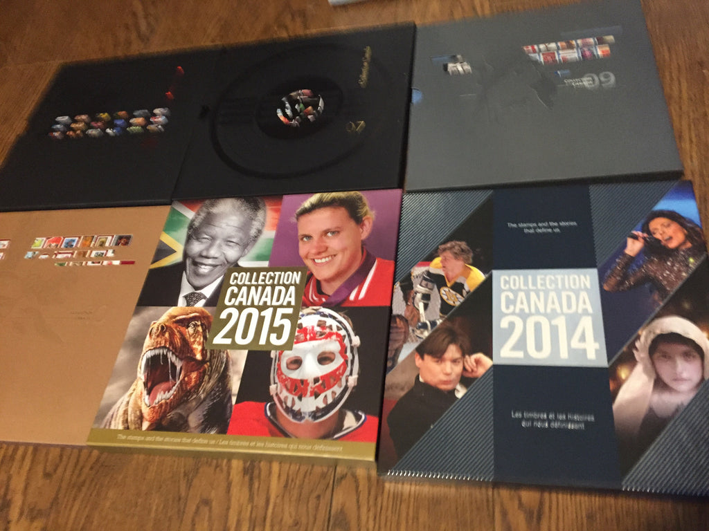 6 Canada Post - Annual Collection Books - Hardcover ( No Stamps Included In The Sets )