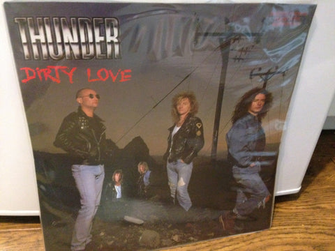 "Thunder - Dirty Love 1980- Heavy Metal - (3-track UK 45rpm 12"" Clear Vinyl Lp )"