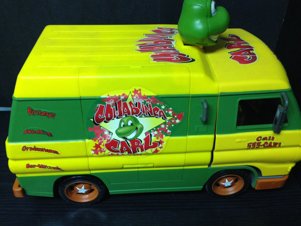 TMNT NINJA TURTLES COWABUNGA CARL PARTY VAN (Rare)