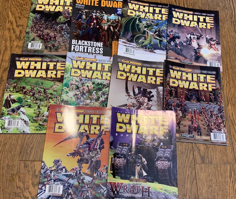 9 - White Dwarf Magazines - Lot sale