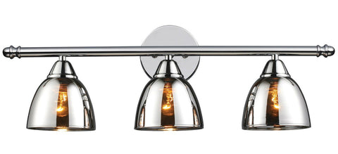 ELK Lighting 10072/3 Reflections 3-Light Bathroom Vanity, Polished Chrome