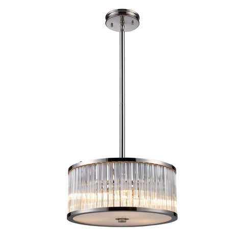 ELK Lighting 10128/3 Braxton 3-Light Pendant, Polished Nickel