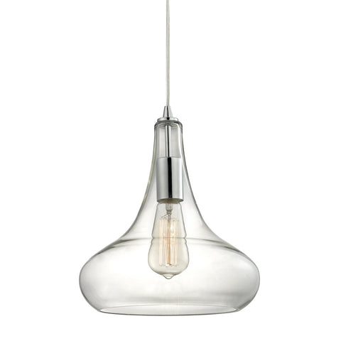 ELK Lighting 10422/1 Orbital 1-Light Pendant, Polished Chrome