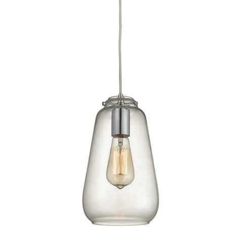 ELK Lighting 10423/1 Orbital 1-Light Pendant, Polished Chrome