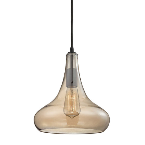 ELK Lighting 10432/1 Orbital 1-Light Pendant, Oil Rubbed Bronze