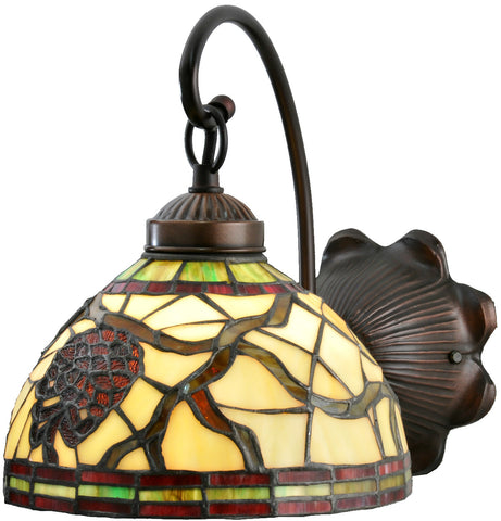 Meyda Tiffany 106289 Pinecone Dome Wall Sconce