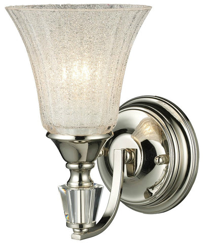 ELK Lighting 11200/1 Lincoln Square 1-Light Bathroom Sconce, Polished Nickel