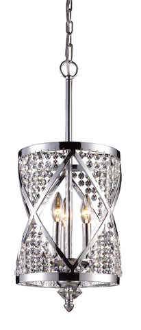 ELK Lighting 11233/3 Crystoria 3-Light Chandelier, Polished Chrome