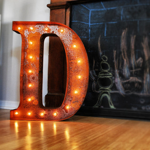 "Vintage Marquee 24"" Letter D"