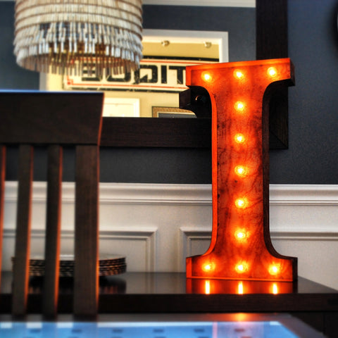 "Vintage Marquee 24"" Letter I"