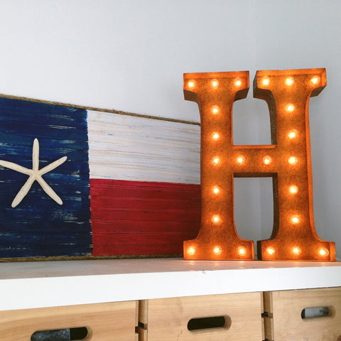 "Vintage Marquee 24"" Letter H"