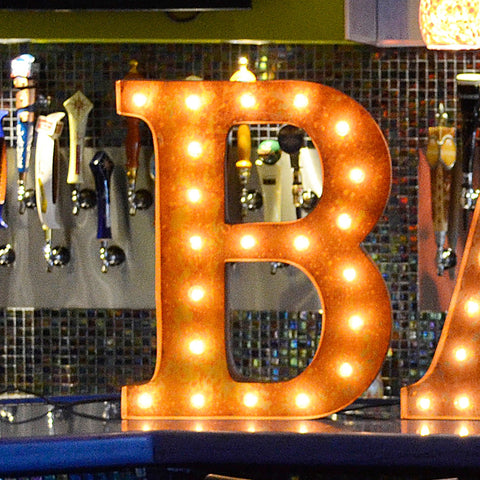 "Vintage Marquee 24"" Letter B"