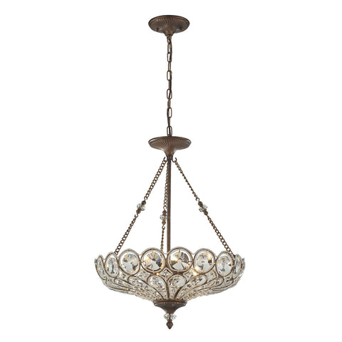 ELK Lighting 12024/5 Christina 5-Light Pendant, Mocha
